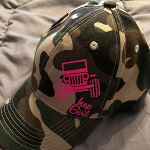 Other - Camouflage Jeep Girl Baseball Cap!